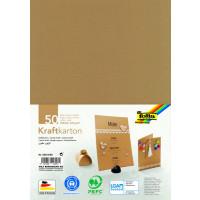 Kraft karton naravne barve 50x70cm 230g/m2 1 list