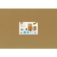 Kraft karton naravne barve 50x70cm 230g/m2 25 listov