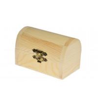 Lesena škatlica gusarska skrinja 9,5x5,5x6cm 1 kos