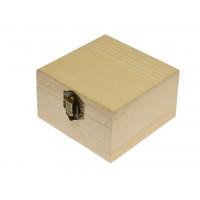 Lesena škatlica 9,5 x 9,5 x 5,5 cm, 1 kos
