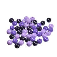 Lesene perle okrogle barvni miks 10 mm, 50 kos -Vijolični miks