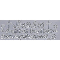 Nalepke SVETI KRST in PRVO OBHAJILO srebrne barve