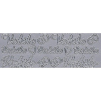Nalepke VABILO in ZAHVALA srebrne barve