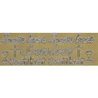Nalepke SVETI KRST in PRVO OBHAJILO zlate barve