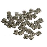 Perle kovinske s tremi luknjami, 36 kos