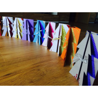 Set za izdelavo 10 novoletnih voščilnic