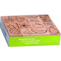Štampiljke lesene - Sadje, 10 kosov