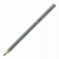 Grafitni svinčnik B Grip Jumbo srebrne barve 1 kos