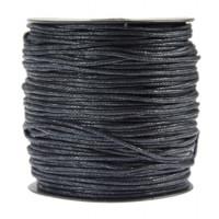 Tekstilna povoščena vrvica črna 2mmx80m