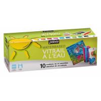 Set VITRAIL barv za steklo na vodni osnovi 10x45ml