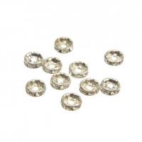 Vmesni člen za nakit s kamenčki, 8 mm, različne barve, 10 kos