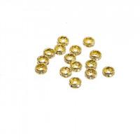 Vmesni člen za nakit s kamenčki, 4 mm, različne barve, 15 kos