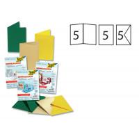 Set voščilnic in kuvert 10,5x15cm 5 kosov