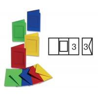 Set voščilnic s kvadratnim izrezom in kuvert 11x18 cm 3 kosi
