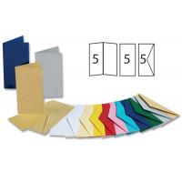 Set voščilnic in kuvert 10,5x21cm 5 kosov
