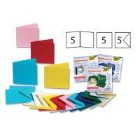 Set voščilnic in kuvert 13,5x13,5cm 5 kosov