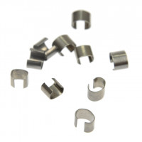 Zaključek za nakit kovinski 5 mm, barva antracita, 10 kos