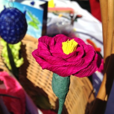 VIDEO: Roža iz krep papirja