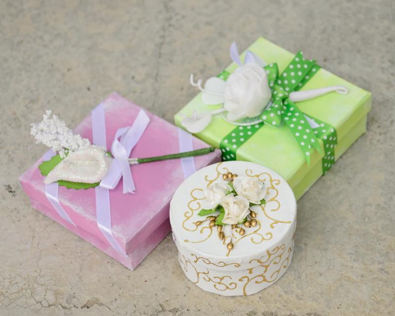 Škatlice - poročna dekoracija