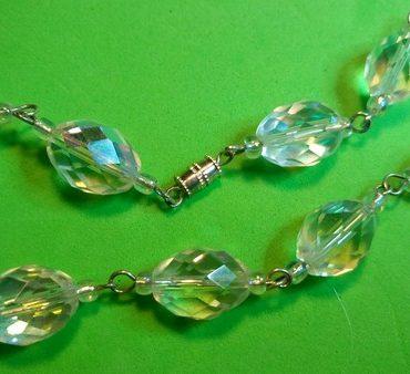 Ogrlica iz brušenih steklenih perl - 2 RAZLIČICI