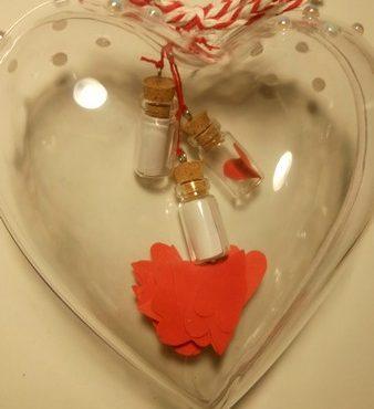 Srčki s srčnimi sporočili