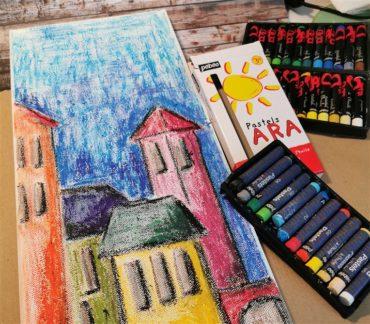 Video: Mavrične hiške z oljnimi pasteli