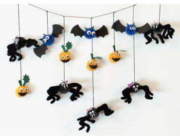 Pajki, netopirji in buče iz pom pom cofkov